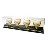4 Baseball Display with engraving