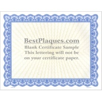 8.5 x 11 Certificate Paper - Blue 25 Sheets per Pack