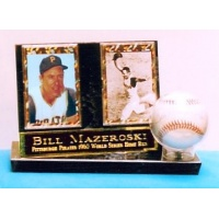 Baseball & 2 Card Stand Up Display