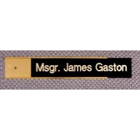 "10"" Metal Door or Wall Nameplate Gold Color - Includes Free Engraving"