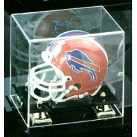 Mini Helmet Black Base Display Case - Item #GMH2