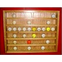 60 Golf Ball Case Oak Display