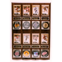 8 Puck & 8 Card Display Plaque - Item #MRK8