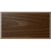 7.5x14 Blank Plaque Board Walnut with Gold Border - 7.5x14 Walnut with Gold Border